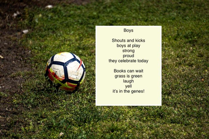 boys, poem, poetry, rabbit room, writer, soccer, ball, grass, field, playing, outside